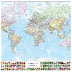 pz. 1 Carta Geografica MuraleIL MONDO. 131x97 M09PL