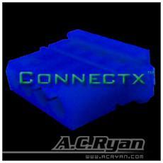 Connectx™ T-Molex power Female - UVBlue 100x, Blu