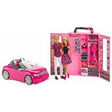 Bundle dei Sogni con Barbie, Ken, Automobile e Armadio
