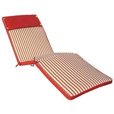 Cuscino Per Lettino Sfoderabile Impermeabile Esterno Colore Rosso A Strisce Cu805692