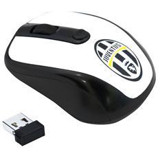 Mouse Ottico Wireless Juventus Colore Bianco / Nero