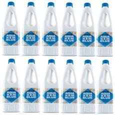 12 Bottiglie Disgregante Di Aqua Kem Thetford Da 1 Litro - Liquido Serbatoio Aque Nere Camper Wc