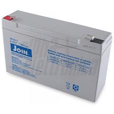 Batteria al piombo ricaricabile 6V 7,0Ah – AGM ideale per UPS, Sistemi di allarme, Gruppi di continuità, Peg Perego, lampada di emergenza
