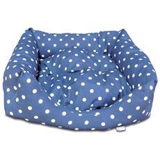 Cuccia Per Cane E Gatto Da Interno Pisolo, Ortopedica, Imbottita, Tessuto Cotone, Misura 60 X 40 Cm