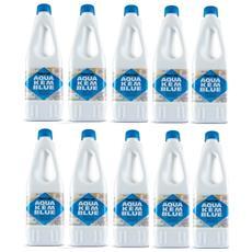10 Bottiglie Disgregante Di Aqua Kem Thetford Da 1 Litro - Liquido Serbatoio Aque Nere Camper Wc