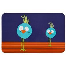 Dish Breakfast Board Wildlife Birdie, Blu, Arancione, Melammina