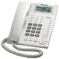 Telefono Domestico LCD con Batteria colore Bianco