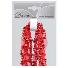 Ghirlanda Natalizia con Perle Colore Rosso da 2.7 m