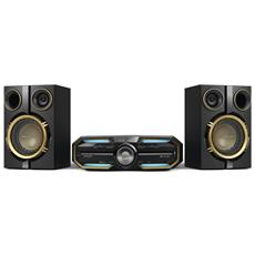Sistema Mini Hi-Fi FX25 Lettore CD Supporto MP3 Potenza Totale 300Watt Bluetooth / NFC porta USB Ingresso Audio