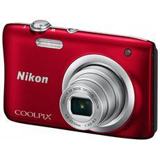"Coolpix A100 Rosso Sensore CCD 20.1Mpx Zoom ottico 5x Display 2.7"" Filmati HD"