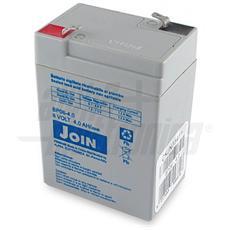 Batteria al piombo ricaricabile 6V 4Ah – AGM ideale per UPS, Sistemi di allarme, Gruppi di continuità, Peg Perego, lampada di emergenza