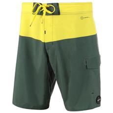 Costume Uomo Boardshort Jaguar 32 Verde Giallo