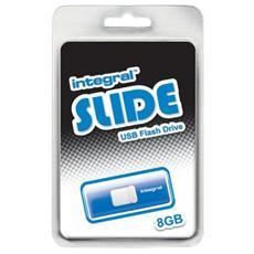 pz. 1 USB Slide Blu 8GB Integral INFD8GBSLDBL