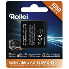Batteria per Action Cam 425/430 Capacità 1050 mAh
