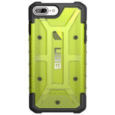 Cover per iPhone 8 / 7 / 6S Pus Colore Verde Limone e Trasparente