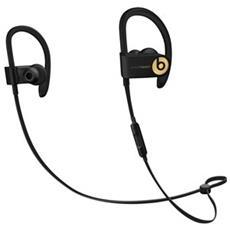 Auricolare con Microfono senza Fili Powerbeats3 Colore Nero Oro con Bluetooth
