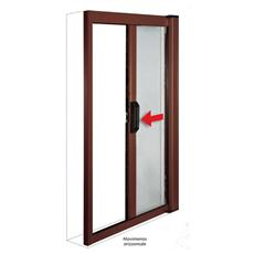 Zanzariera in alluminio a molla per porte e finestre 160x250 marrone