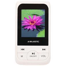 Lettore mp4 Sda4071n Wh Multimedia Player 4gb Microsd Audio Video Radio