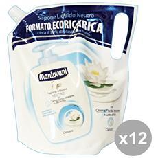 Set 12 Sapone Liquido Sacco Ricarica Classico 750 Ml. Saponi E Cosmetici