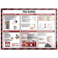 922986 Segnale ''sicurezza Antincendio'' (in Inglese) 590 X 420 Mm, Laminato