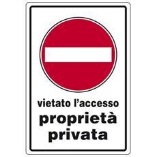 Cartelli segnaletici in alluminio Pubblicentro - divieto d'accesso proprietà privata - 05401430ALB0300X02