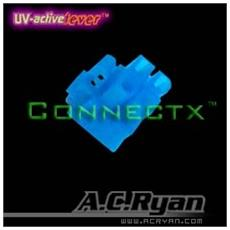 "Connectxâ""¢ ATX4pin (P4-12V) Female - UVBlue 100x, ATX 4pin Female, Blu"
