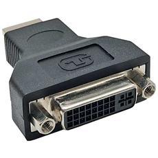 adattatore hdmi 19pin type-a maschio a dvi-d 24+1 femmina, supporta segnali digitali e audio