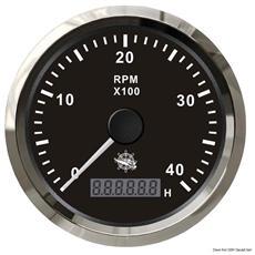 Contagiri 0-4000 RPM nero / lucida