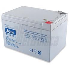 Batteria al piombo ricaricabile 12V 12Ah – AGM ideale per UPS, Sistemi di allarme, Gruppi di continuità, Peg Perego, lampada di emergenza