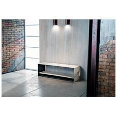 Mod. Calatrava - Porta Tv In Vetro E Ceramica