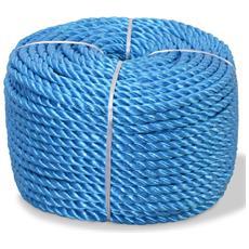 Corda Intrecciata In Polipropilene 6 Mm 200 M Blu