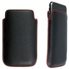 Custodia in pelle per Apple iPhone 2G / 3G / 3GS, Nero / Rosso
