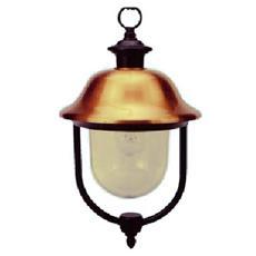 Lanterna per esterno in alluminio con copertura ramata pz 4 cm 45