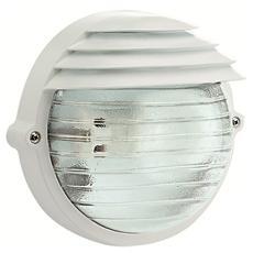 Plafoniera bianca esterno vetro trasparente attacco a soffito o parete W 60