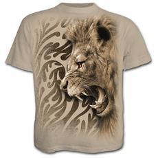 Tribal Lion T-shirt Stone (T-Shirt Unisex Tg. 2XL)