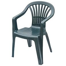 Sedia Altea, Poipropilene, Monoblocco Verde