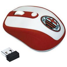 Mouse Wireless Milan Colore Bianco / Rosso
