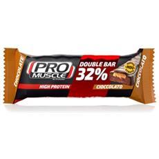 Barretta Proteica Double Bar 60gr Marrone Unica