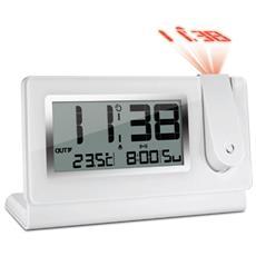Orologio Sveglia Digitale con Display LCD Colore Bianco RICONDIZIONATO