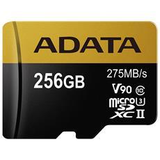 Scheda di Memoria Micro SDXC Capacità 256 GB Classe 10 Velocità 275 MB / s