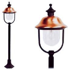 Lampione per esterno in alluminio con copertura ramata pz 4