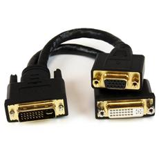 Cavo sdoppiatore DVI-I a DVI-D e HD15 VGA per thin client Wyse - Cavetto Splitter DVI - 20 cm