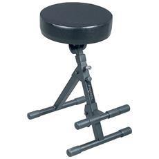 KGST10 Sgabello dal design innovativo realizzato in acciaio tubolare resistente sedile inclinabile in gomma rinforzo in metallo e poggiapiedi antiscivolo regolabile in altezza