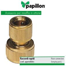 Raccordo rapido per tubo 1/2 pollici ottone Acqua Stop Papillon