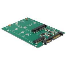 ICC IO-MSATA-NGFF - Scheda Convertitore da SATA 22 pin a 1 M. 2 NGFF + 1 mSATA