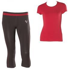 Completo Donna Corsaro + T-shirt Wrupfit Xs Beige Rosso