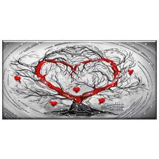 Quadro Su Tela Shiny Con Glitter 60x120 Cm L'albero Dell'amore