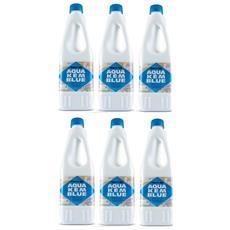 6 Bottiglie Disgregante Di Aqua Kem Thetford Da 1 Litro - Liquido Serbatoio Aque Nere Camper Wc
