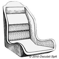 Scocca anatomica per sedili