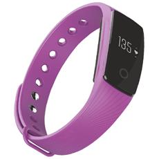 "Activity Tracker T-Fit Display 0.49"" Bluetooth con Cardiofrequenzimetro e Pedometro Viola – Italia"